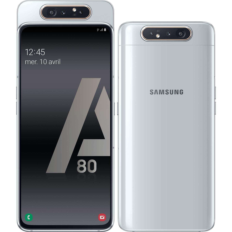 "Smartphone 6.7"" Samsung Galaxy A80 - 8 Go RAM, 128 Go, Argent"