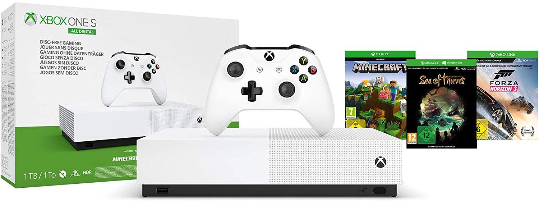 Console Xbox One S All-Digital + Forza Horizon 3 + Minecraft + Sea of Thieves (+ 19.50€ en SP) - Boulanger (114.46€ via Google Shopping)