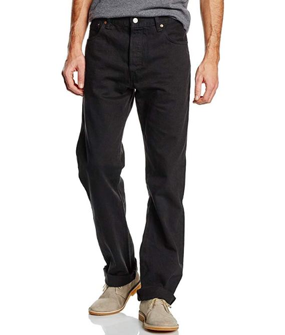 Jeans Levi's Men's 501 Original Fit Noir pour Hommes - Tailles limitées