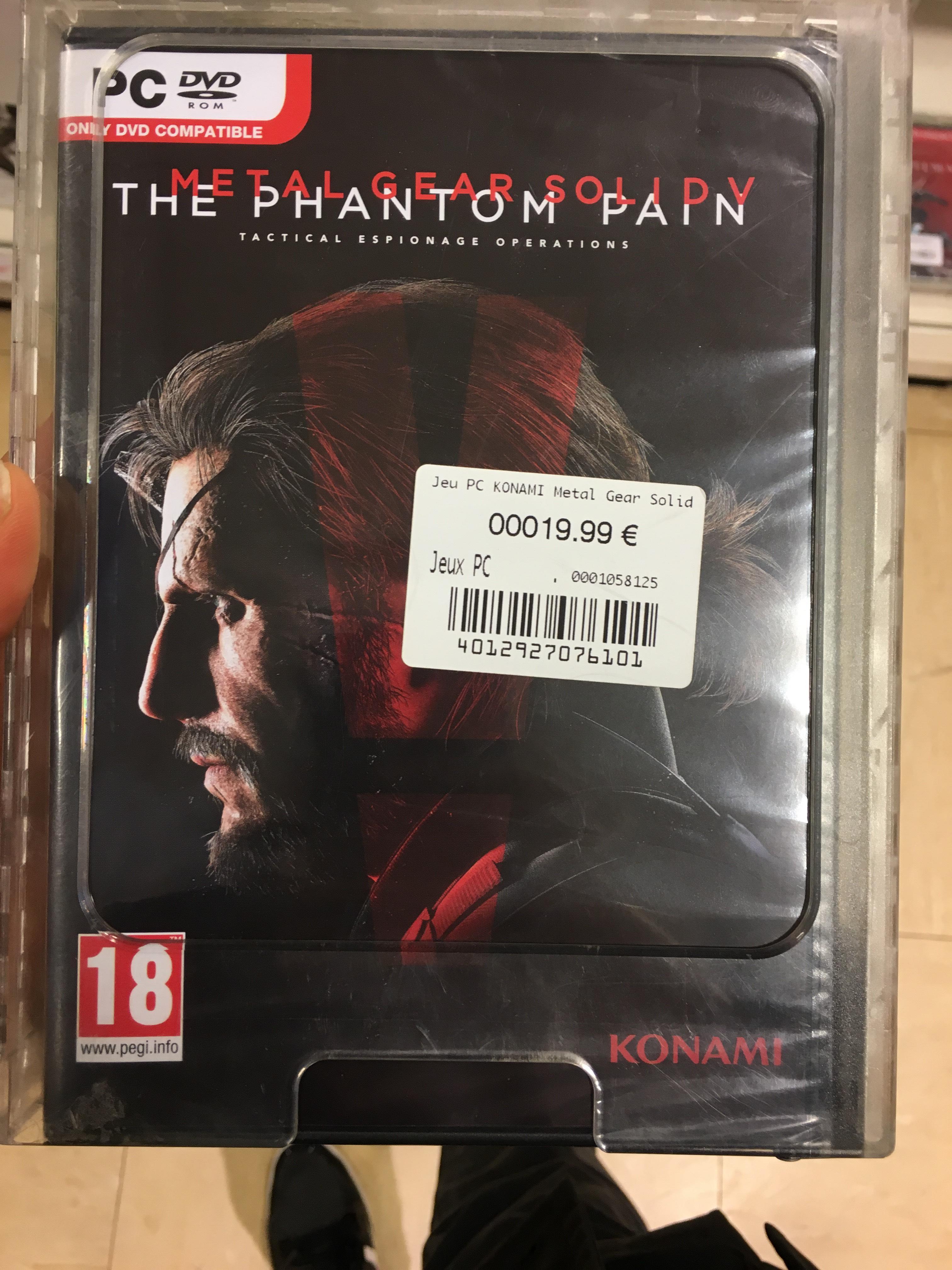 Jeu Metal Gear Solid V : The phantom pain sur PC