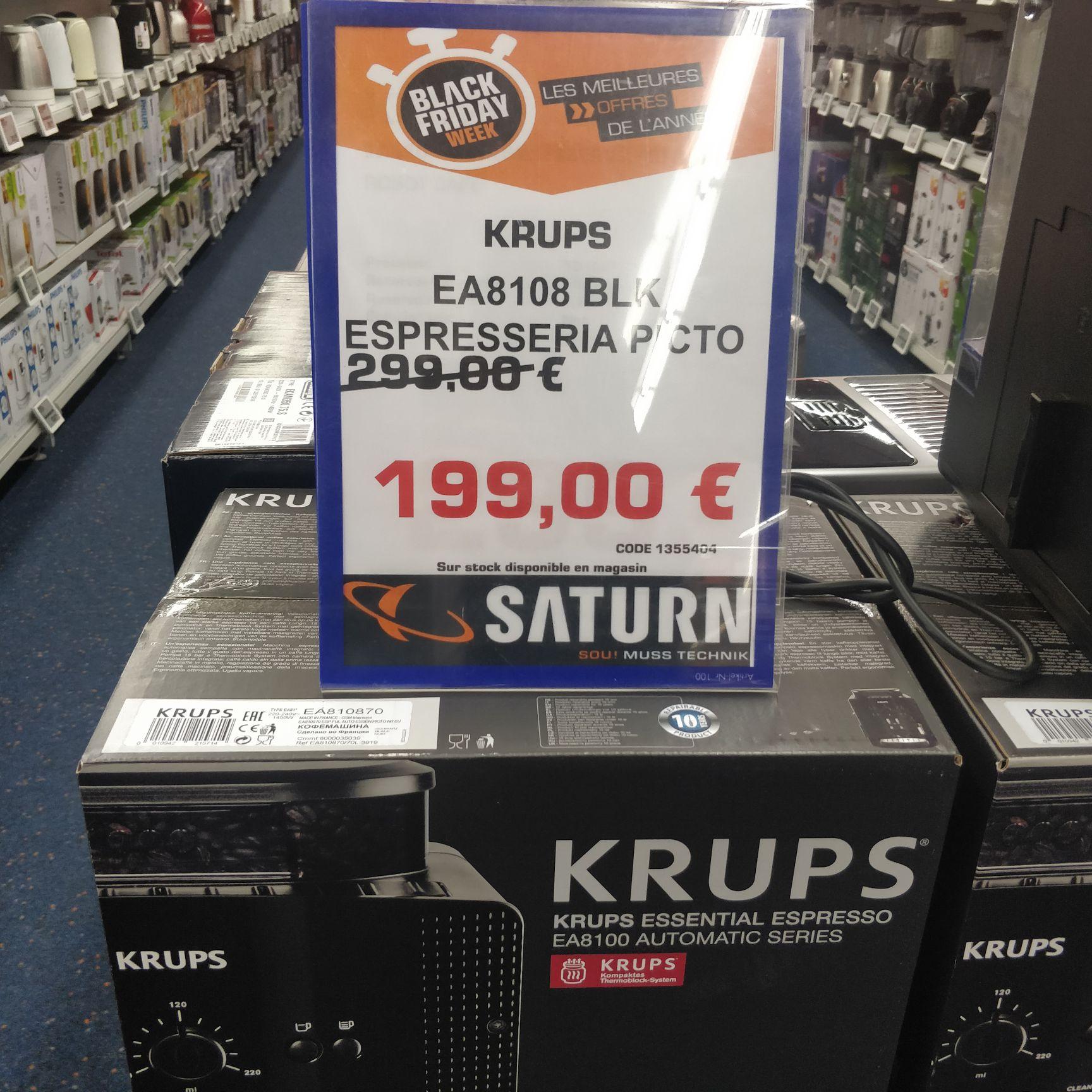 Machine expresso automatique Krups EA 8108 - 1450 W, Noir (Frontaliers Luxembourg)