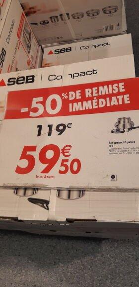 Set de 10 pièces Seb Compact - Tous feux dont induction (Créteil Soleil 94)