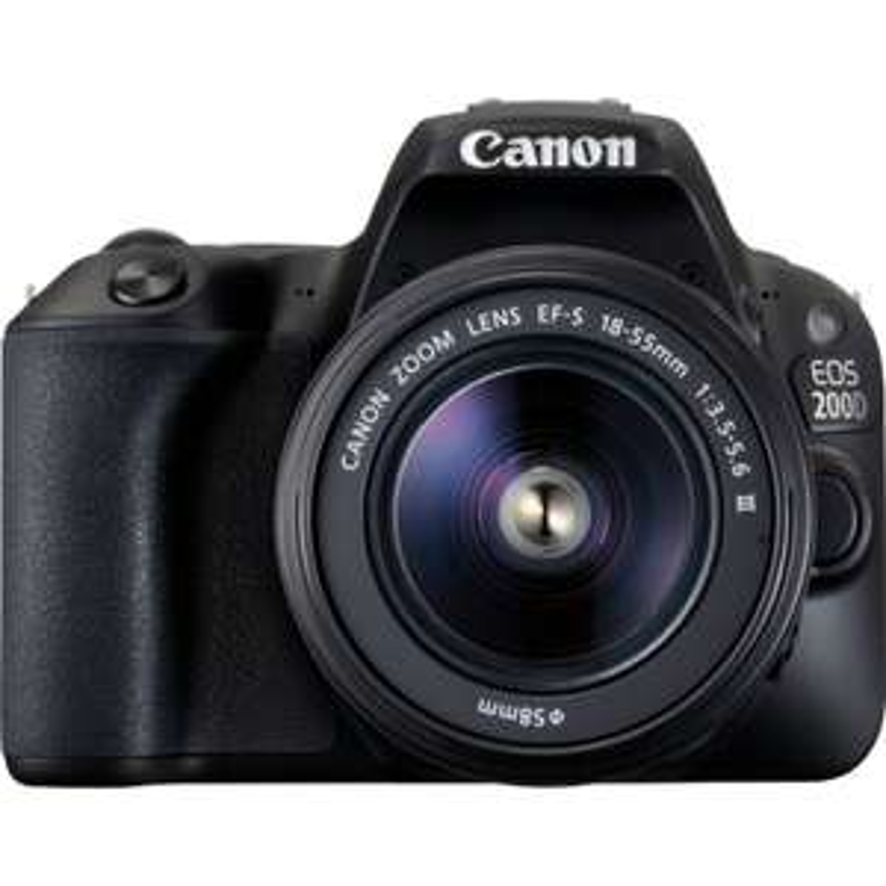 Appareil photo numérique Canon EOS 200D noir et objectif EF-S 18-55mm f/3.5-5.6 III