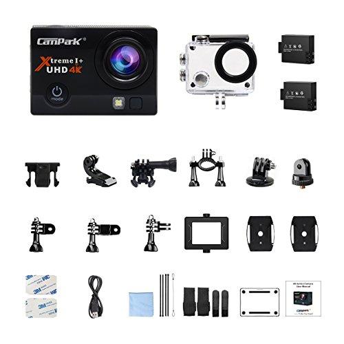 Caméra Sport Campark ACT74 - UHD 4K, Wi-FI, Étanche 30M + 2 Batteries + 20 Accessoires (Vendeur Tiers)
