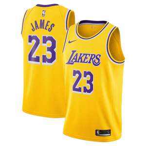 Maillot Homme Los Angeles Lakers Nike Icon Swingman Jersey - LeBron James (Tailles au choix)