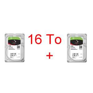 Lot de 2 disques durs Seagate IronWolf - 2 x 8 To