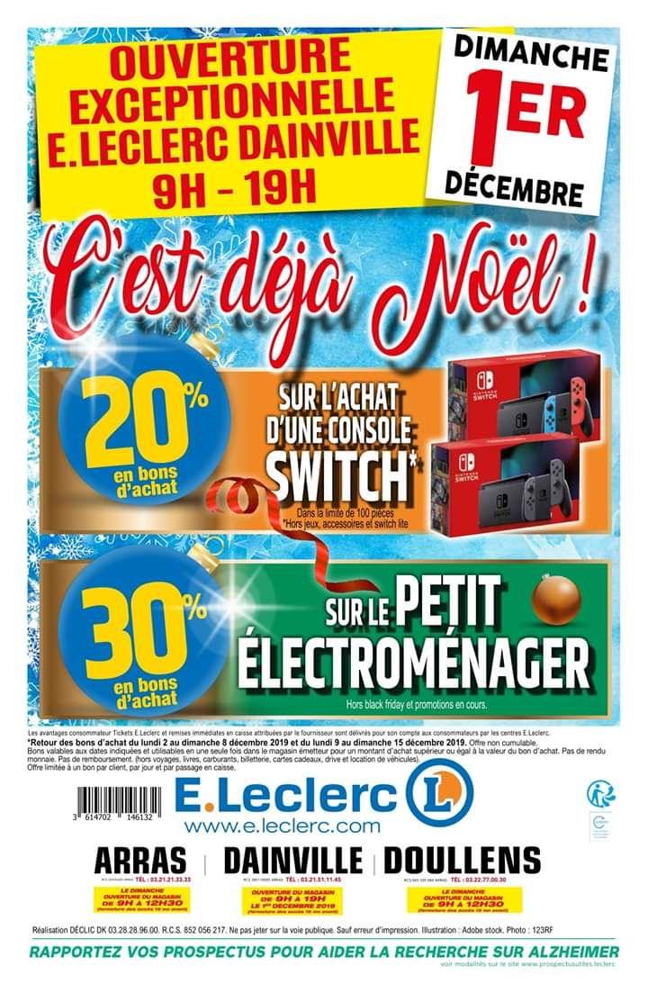 Console Nintendo Switch (Via 58,58€ en Bon d'achat) - Doullens (80) / Dainville (62)
