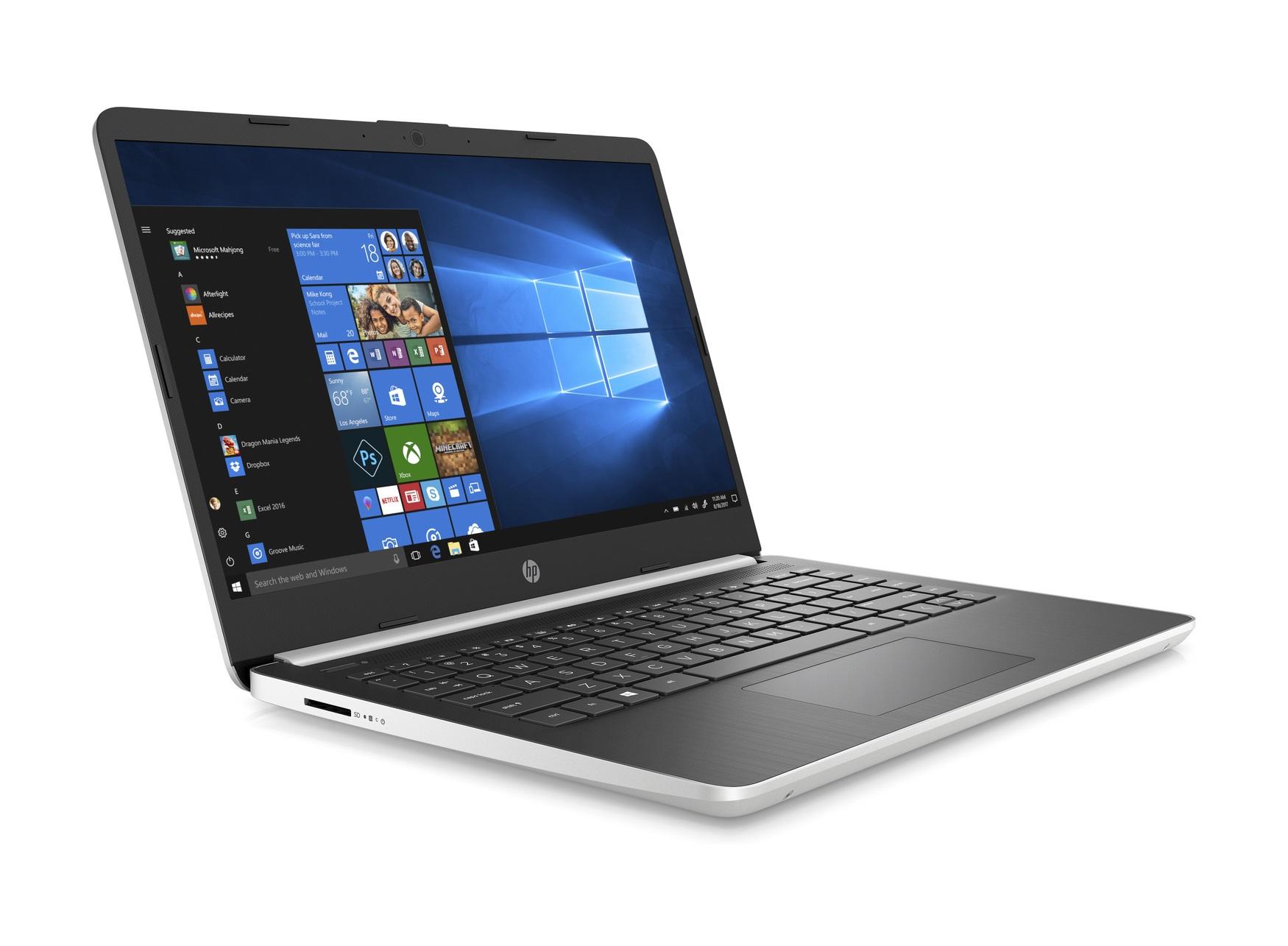 "PC portable 14"" HP 14s-dq0002nf - HD, Pentium Gold 4417U, 4 Go de RAM, SSD 128 Go, Windows 10"