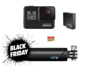 Kit Holiday Caméra Sportive GoPro Hero7 Silver - Bluetooth / Wi-Fi (Frontaliers Suisse)