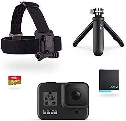 Caméra Sportive GoPro HERO8 black édition + Shorty + Serre-tête + Pile de Rechange + Carte microSD 32 Go