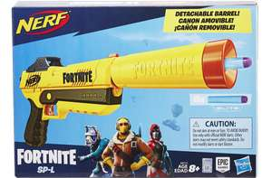 Pistolet Nerf Fortnite SP-L et Flechettes Nerf Elite Officielles