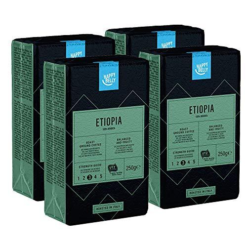 4 Paquets de 250g de Café moulu 100% arabica - origine Ethiopie, UTZ