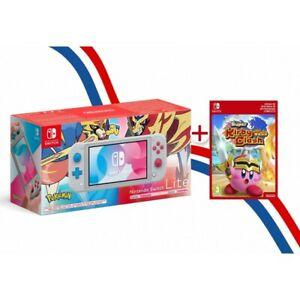 Console Nintendo Switch Lite Édition Pokemon Zacian + Kirby Clash