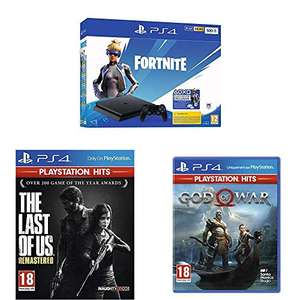 Pack Console PS4 Slim Noire (500 Go) + The Last Of Us PlayStation Hits + God Of War PlayStation Hits