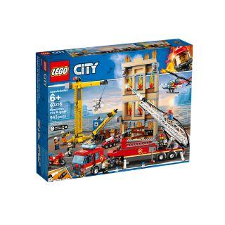 Jeu de construction Lego City - Les pompiers du centre-ville