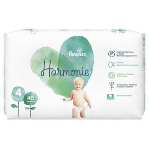 40 Couches Pampers harmonie - Taille 4