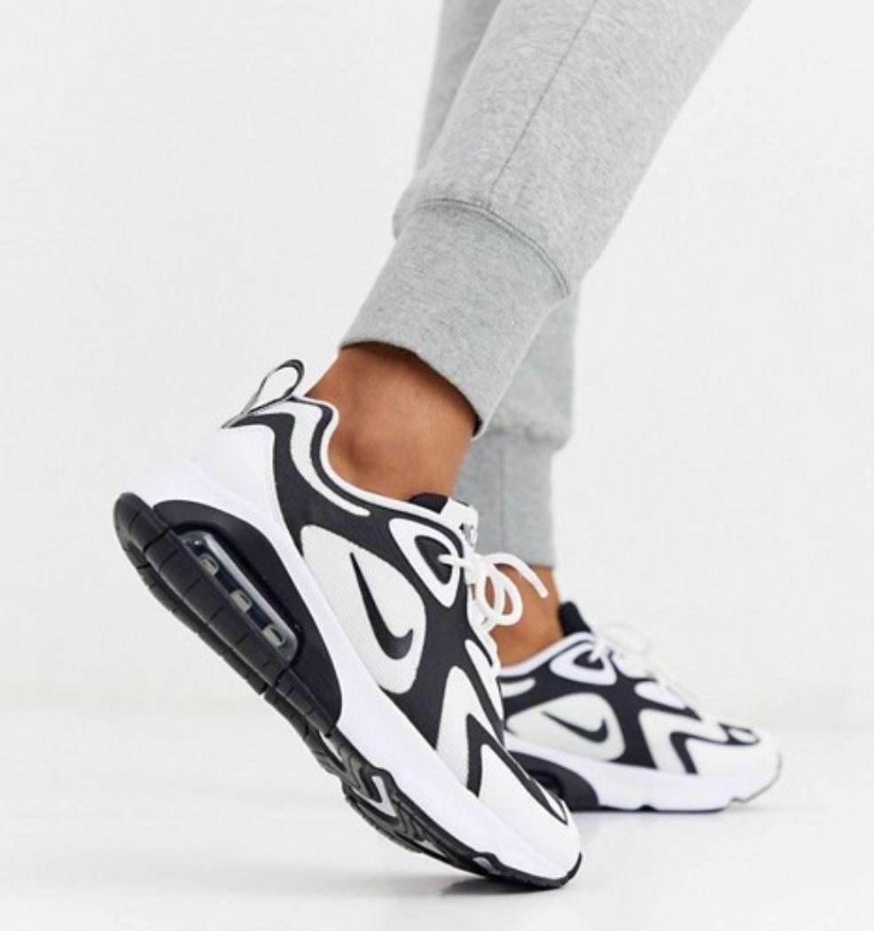 Baskets Nike Air Max 200 - Blanc et noir
