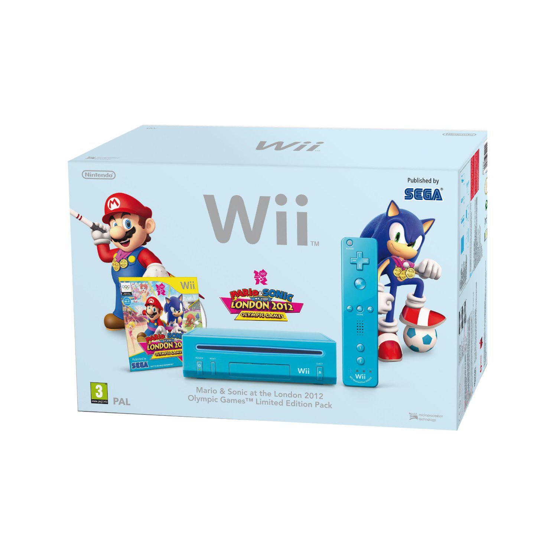 Console Wii bleue + Mario & Sonic aux Jeux Olympiques de Londres 2012 + Télécommande Wii Plus - FDP inclus