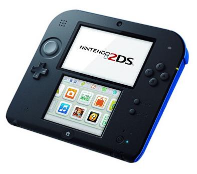 """Console Nintendo 2DS """"Mario Kart 7"""" + 3 jeux : Captain Toad + L'aventure Layton + Yo Kai Watch 2"""