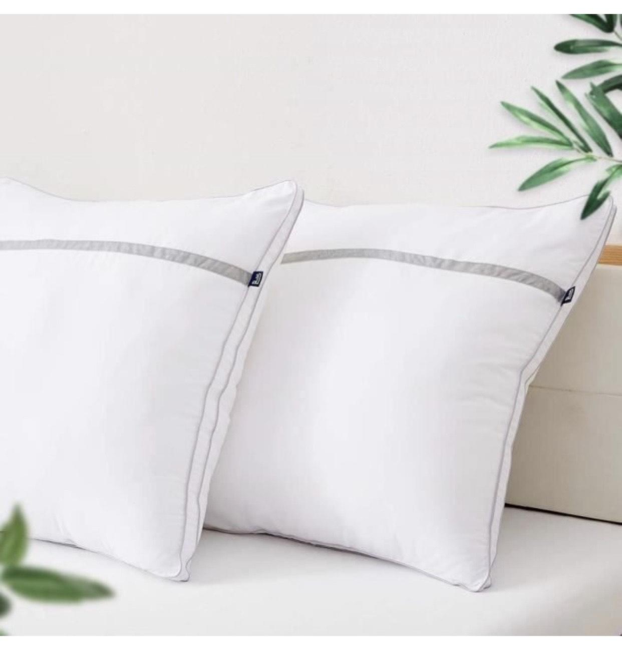 Lot de 2 oreillers Bedstory - 60 x 60 cm, Blanc (vendeur tiers)