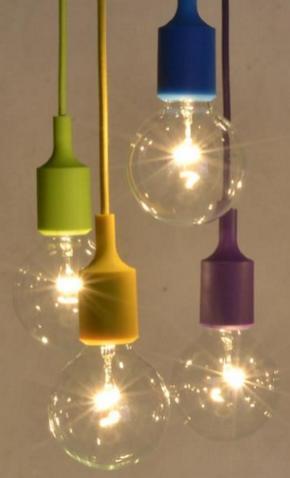 """Ampoule en suspension type """"Modern Vintage"""""""