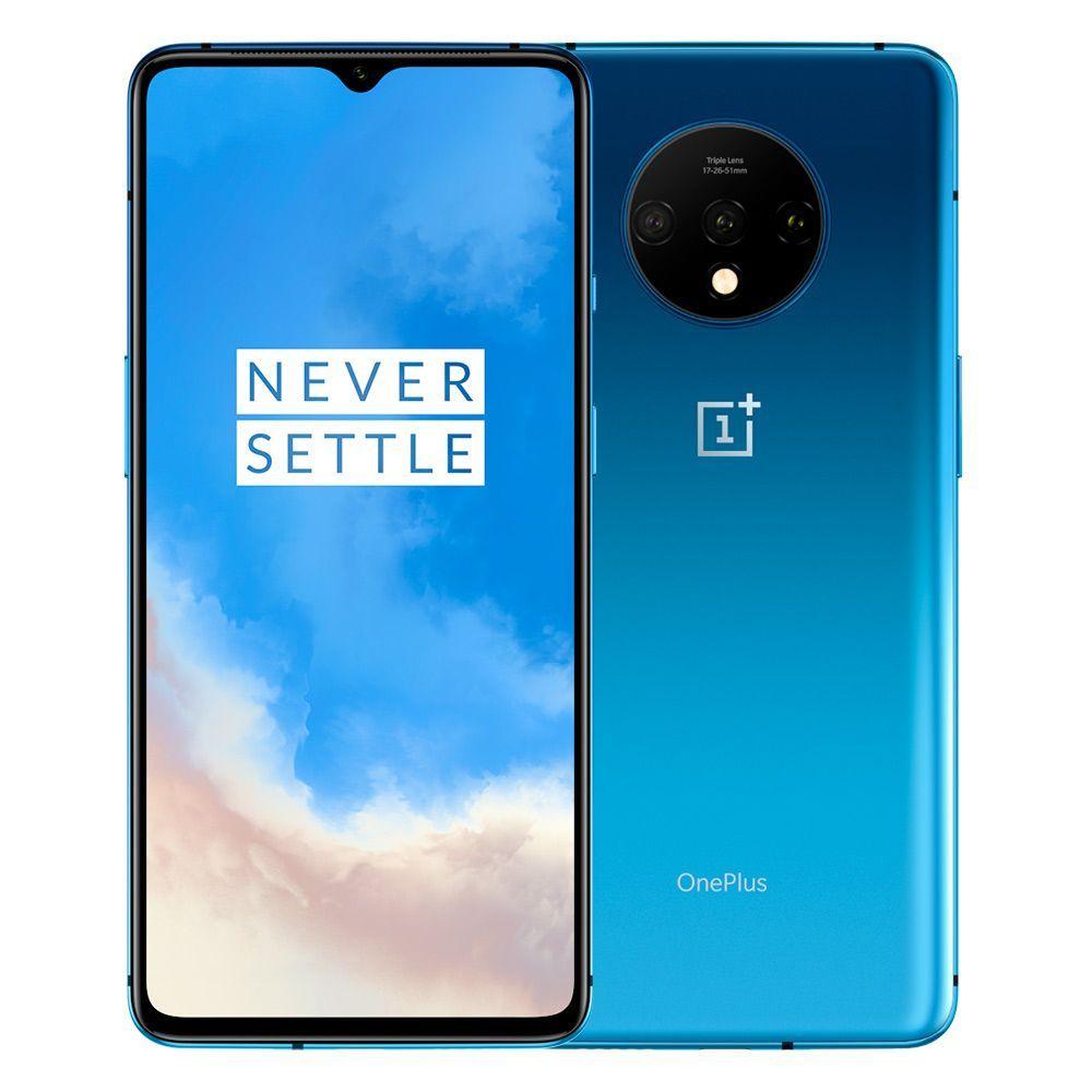 """Smartphone 6.5"""" OnePlus 7T - 256 Go, Double SIM, Bleu Glacier (414,99€ avec le code BF19 +43€ en SuperPoints)"""