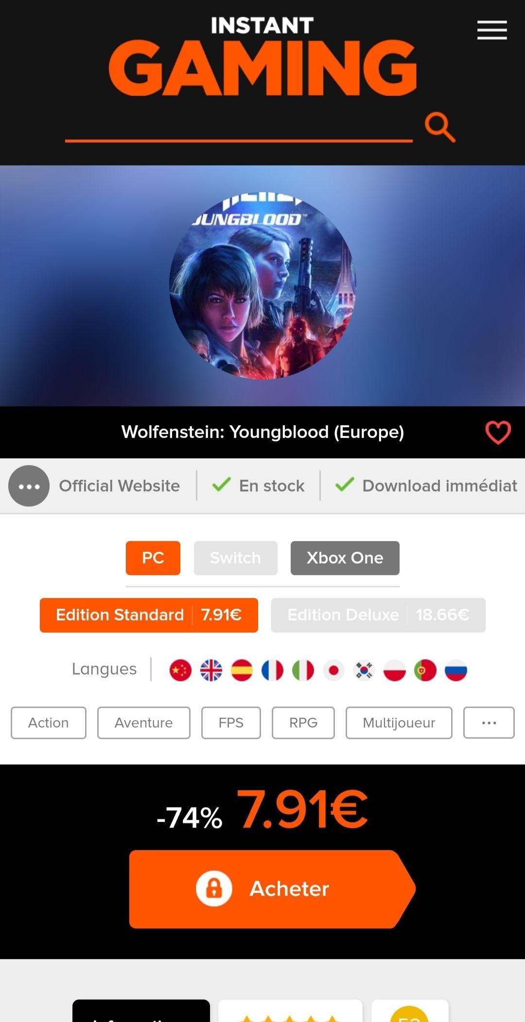 Wolfstein: Youngblood sur PC (Dématérialisé - Bethesda)