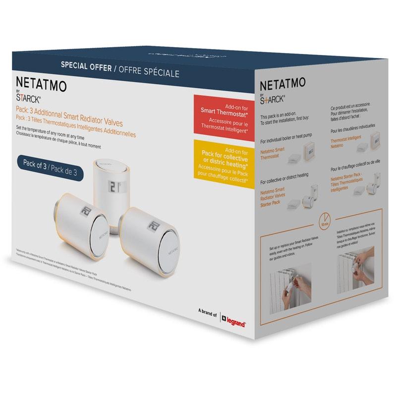 Pack de 3 têtes thermostatiques netatmo