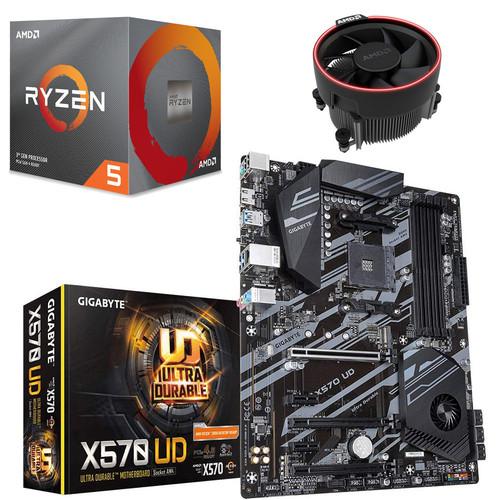 Pack de mise à jour PC - AMD Ryzen 5 3600X (3.8 GHz) + Gigabyte X570 UD + 3 mois d'abonnement Xbox Game Pass et 1 jeu offert