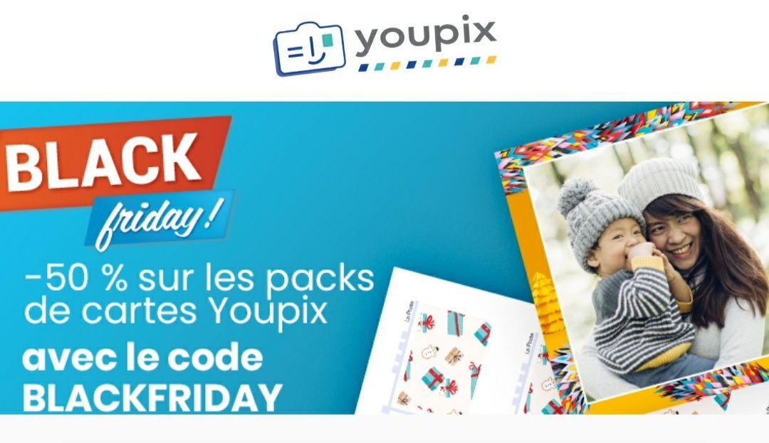 50% de remise sur les packs de cartes postales personnalisées sur Youpix