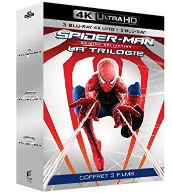 50% de réduction sur une sélection de coffrets Blu-Ray, 4K et DVD - Ex : Trilogie 4K Spider-Man