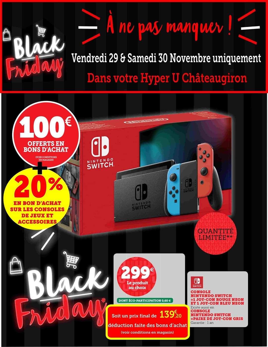 Console Nintendo Switch (2019) (via 159.8€ en bon d'achat) - Châteaugiron (35)