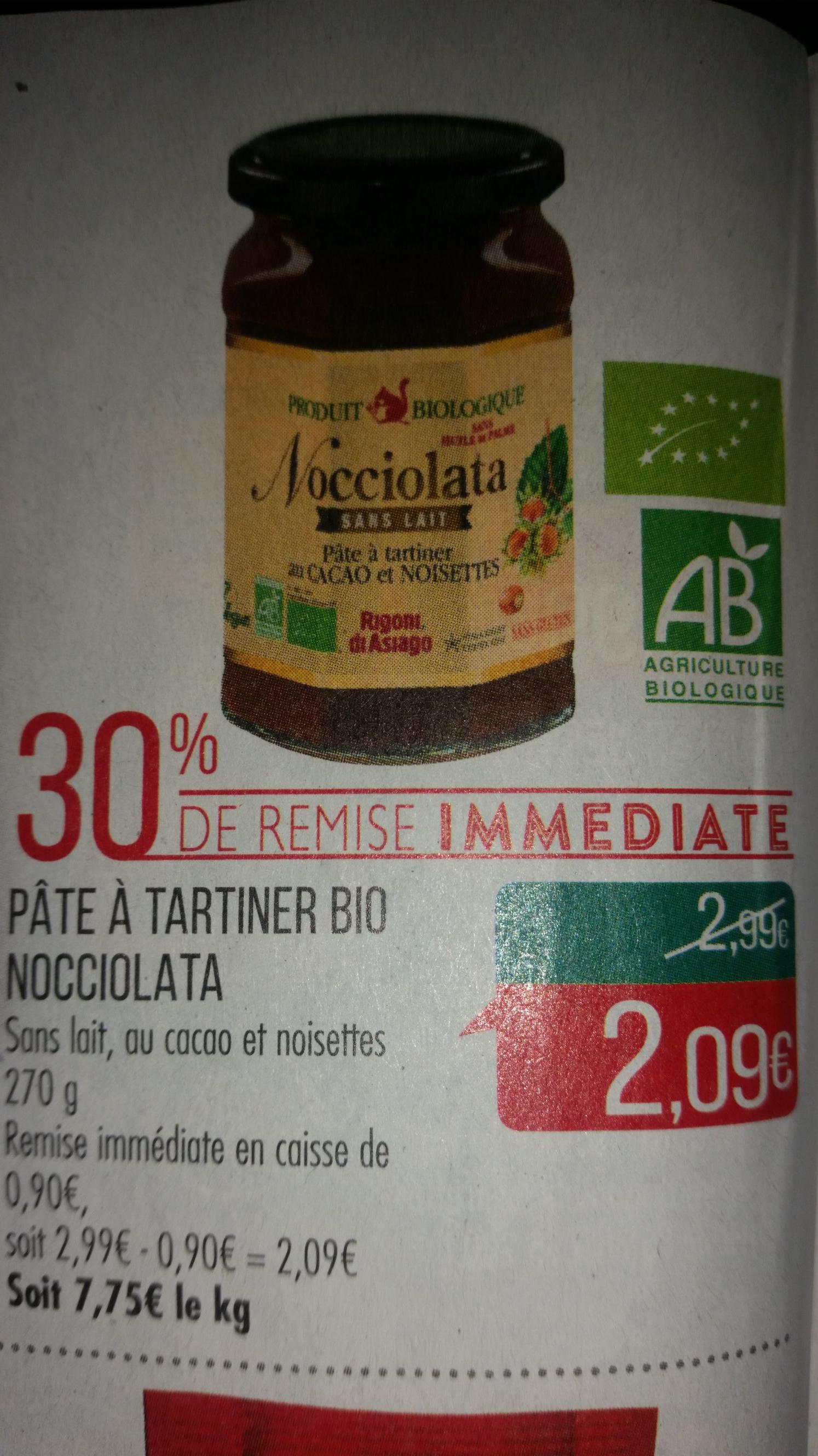 Pâte à tartiner Bio Nocciolata - 270G