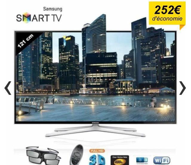 "Téléviseur 48"" Samsung UE48H6400 Smart TV LED 3D Full HD"
