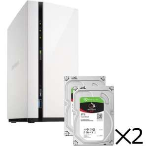 Serveur de stockage Nas Qnap TS-228A 2 Baies + 2 disques durs Seagate IronWolf 3To, 5900tr/min