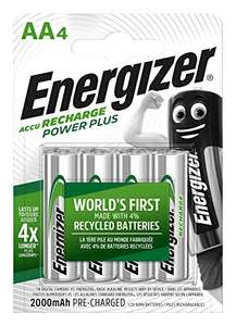 Pack 4 piles rechargeable Energizer 2000mAh