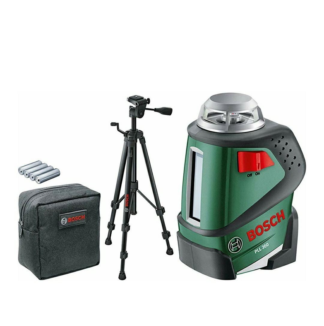 Laser lignes à 360° Bosch - PLL 360 Set - Livré avec trépied 1,1m (Via ODR de 30€)