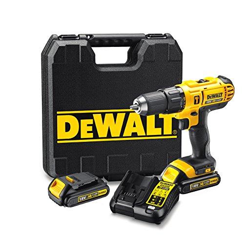 Perceuse-visseuse à percussion DeWalt DCD776C2-QW - 18V + 2 batteries 18v 1.3Ah