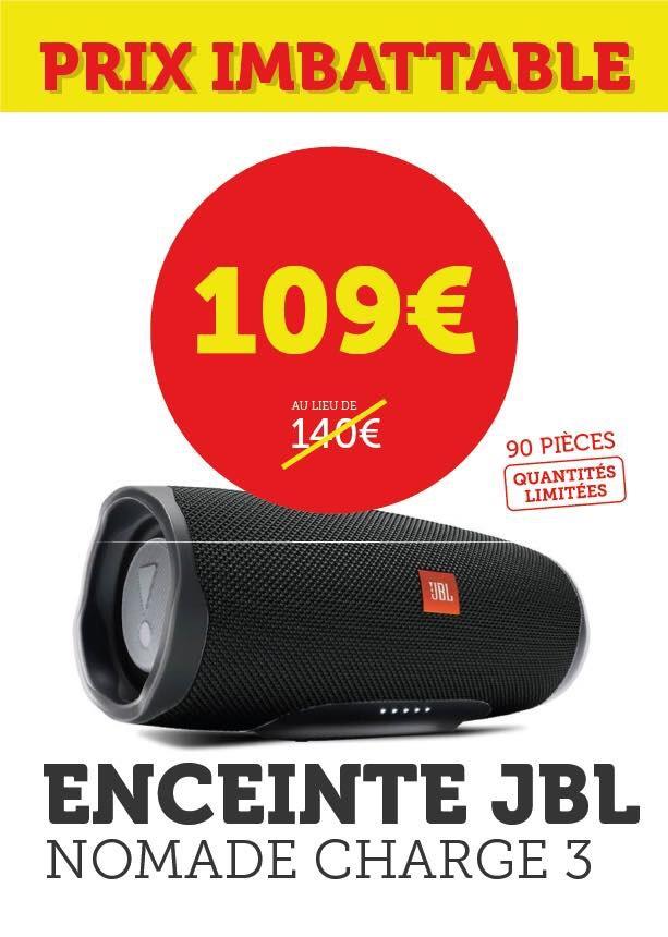 Enceinte JBL Charge 3 - Super U Thouaré-sur-Loire (44)