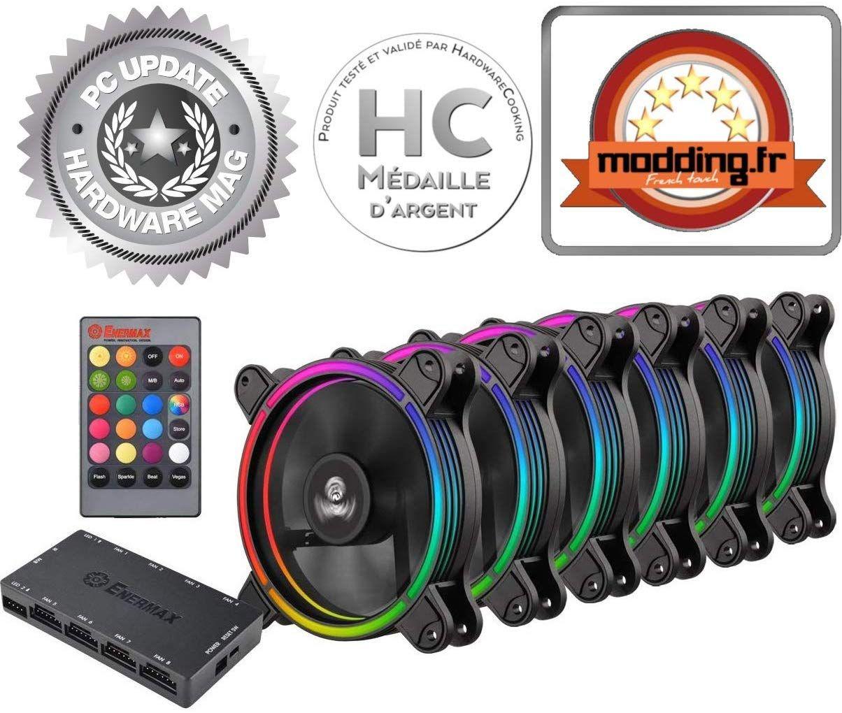 Pack de 6 ventilateurs de boitier Enermax - 120 mm, RGB