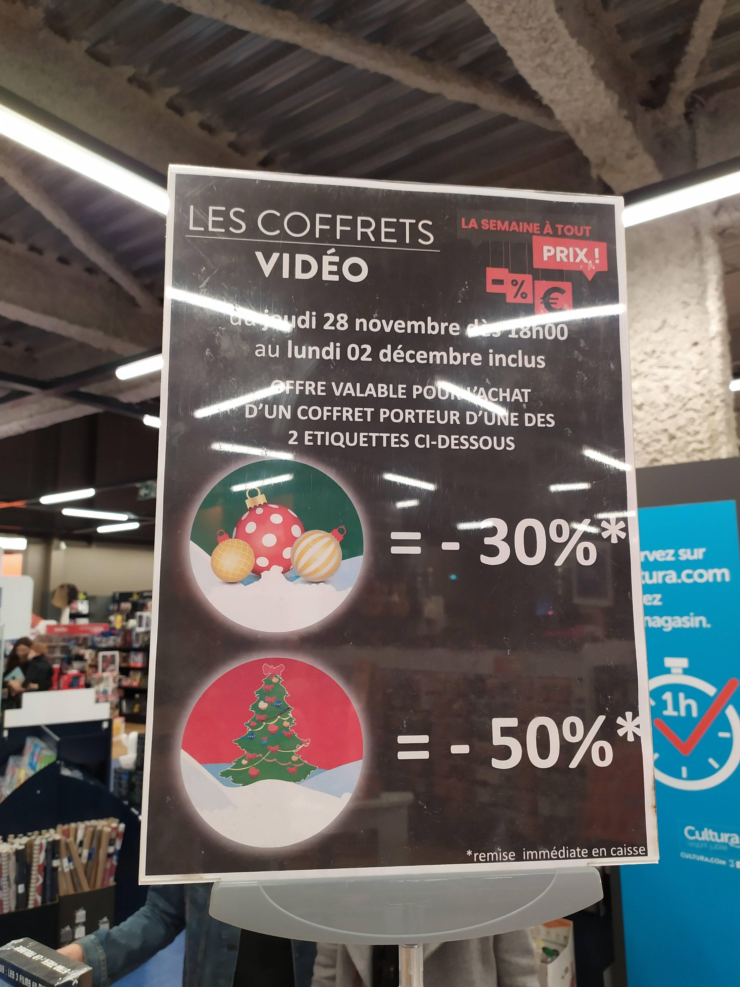 De 30% à 50% de réduction sur une Sélection de coffrets Blu ray, Blu ray 4k et Dvd