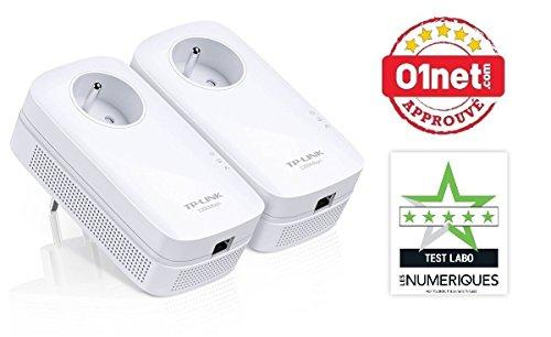 Pack de 2 CPL TP-Link 1300 Mbps - 1 Port Ethernet Gigabit et Prise Intégrée