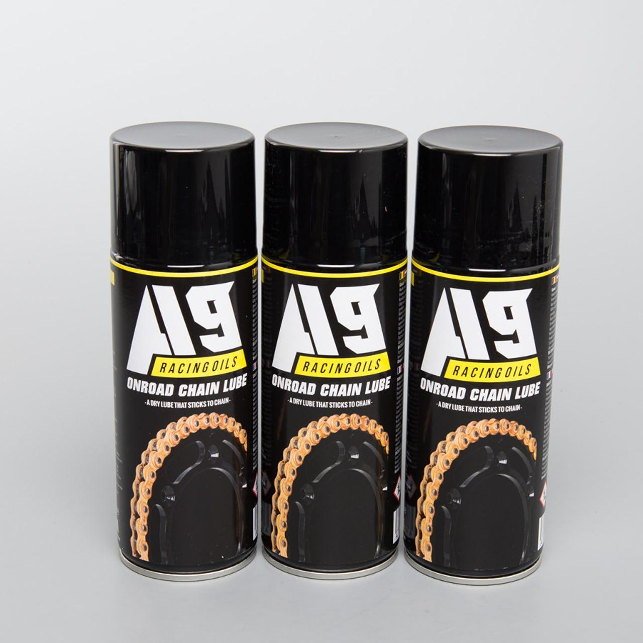 Pack de 3 lubrifiants pour chaîne moto route A9