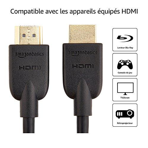 Lot de 2 câbles HDMI 2.0 Amazon Basics