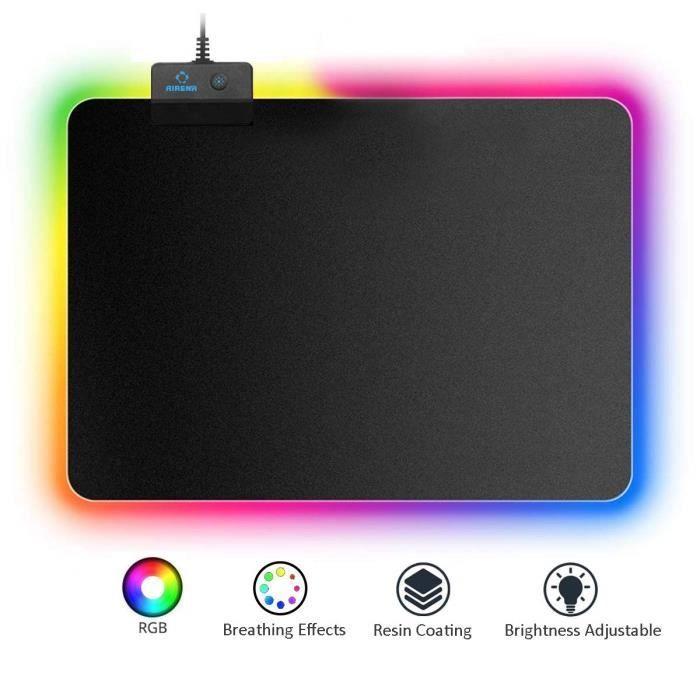 Tapis de souris Gaming RGB - Chroma Haute Précision, Effets de Lumière - Plusieurs Modes- Jeux Video, Gamer (Vendeur Tiers)