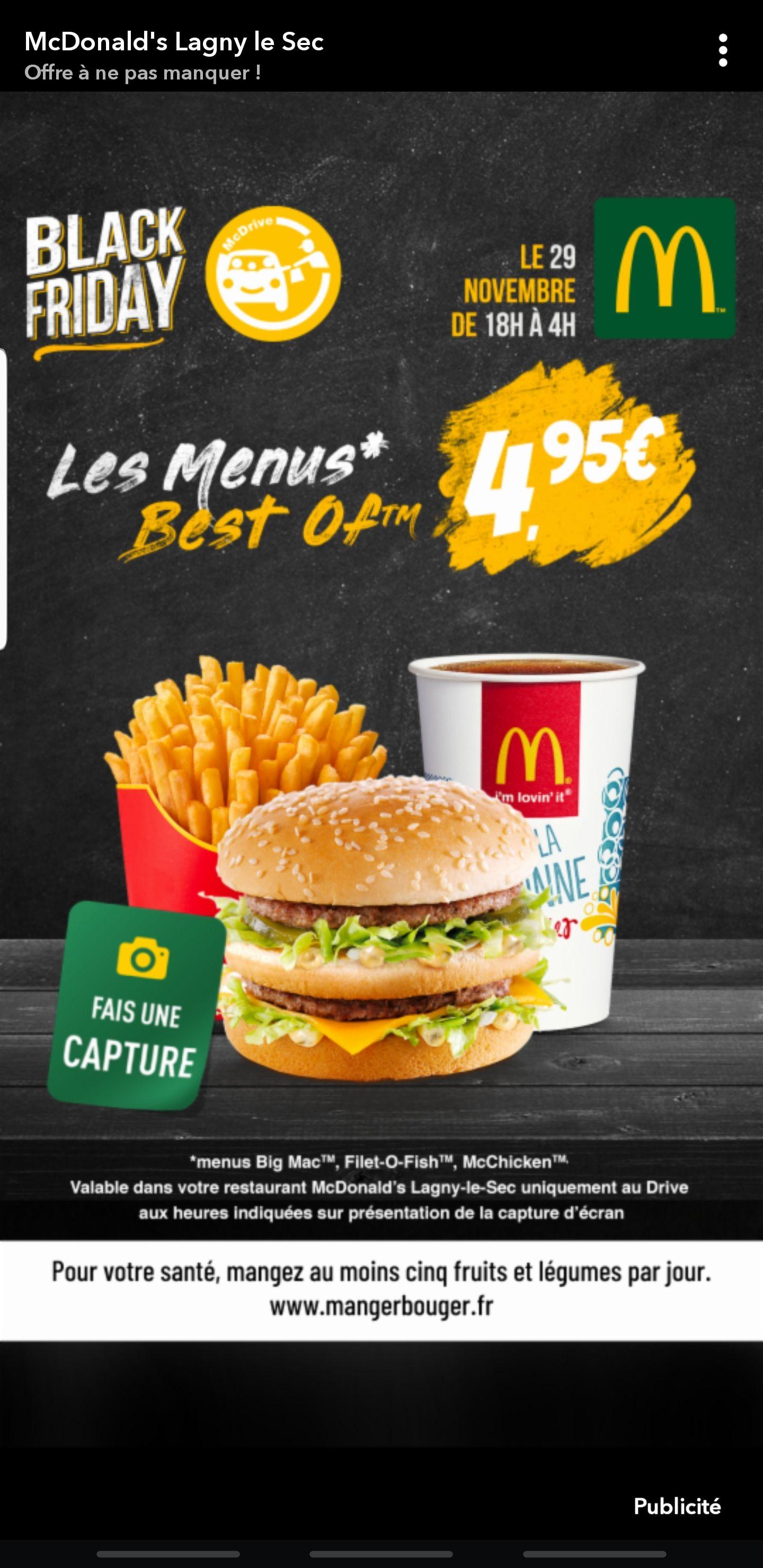 Menu Best Of à 4.95€ - Lagny le Sec (60)