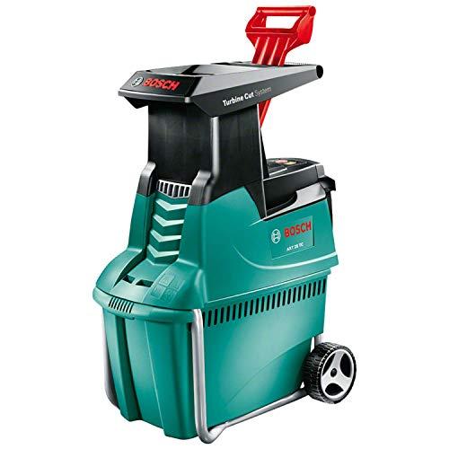 Broyeur de végétaux Bosch AXT 25 TC - 2500W, Poussoir pour déchets verts, Bac 53L, Débit: 230 Kg/H, Coupe maximale : 45 mm