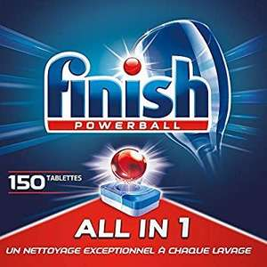 150 Tablettes Pastilles Lave-Vaisselle Finish Powerball All in One Max