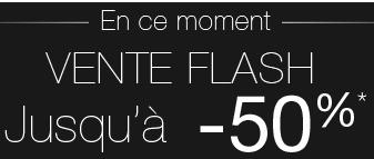 Vente flash : Jusqu'à -50% sur une sélection d'articles + -20% supplémentaires,