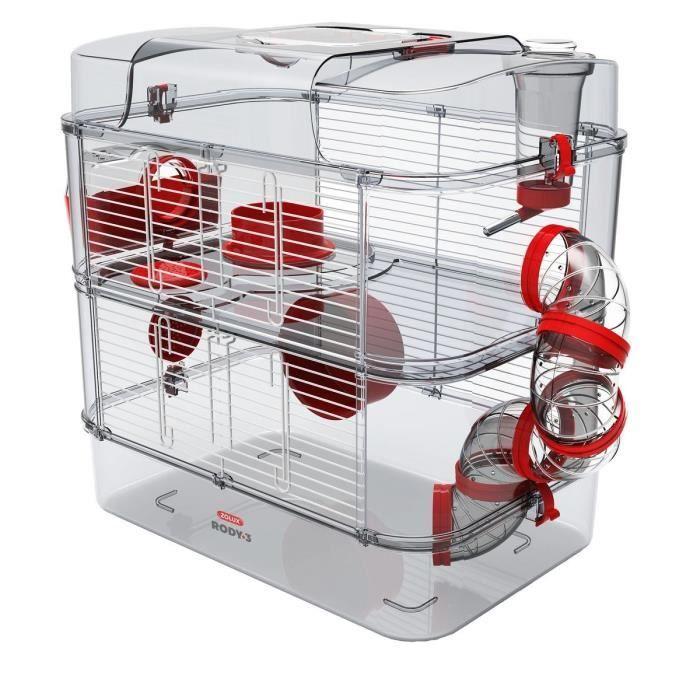 Cage Zolux Rody3 duo - 2 étages (pour Hamster, souris, Gerbilles)